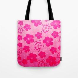 Pink Hibiscus And Honu Turtles Tote Bag