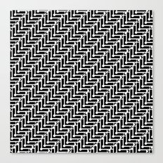 Black and White Zigzag Pattern Canvas Print