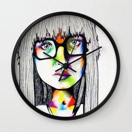 Color girl Wall Clock
