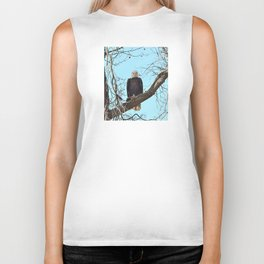 Eagle with fish Biker Tank