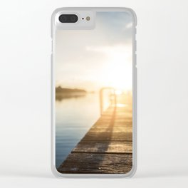 Sitting on the Dock of the Bay Clear iPhone Case
