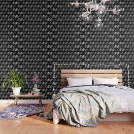 Feather Trio   Black and White Wallpaper