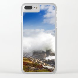 Wave crashing in Louisbourg Clear iPhone Case
