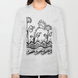 Three Spring Flowers Long Sleeve T-shirt