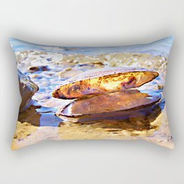 In The World Of A Clam Shell Rectangular Pillow