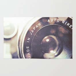 Vintage Ricoh Camera Diptych Rug