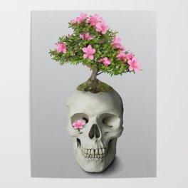 Bonsai Skull Poster