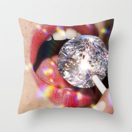Diamond Lollipop Throw Pillow