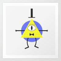 bill cipher Art Prints featuring Bill Cipher by tukylampkin