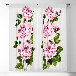 Pink peonies Blackout Curtain
