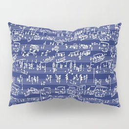 Hand Written Sheet Music // Midnight Blue Pillow Sham