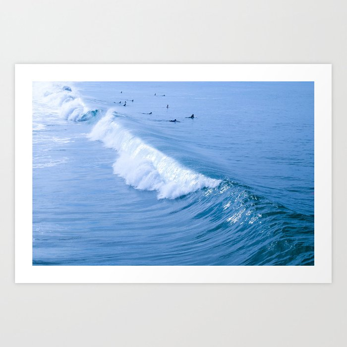 Waiting for the Perfect Wave Art Print