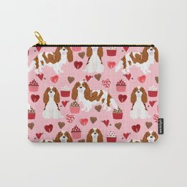 Cavalier King Charles Spaniel blenheim valentines day cupcake heart dog breed spaniels pet gifts Carry-All Pouch