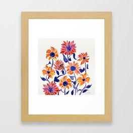 Sunflowers – Sunset Palette Framed Art Print
