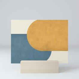 Halfmoon Colorblock - Gold Blue Mini Art Print