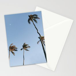 Palm Trees and Moon Beams Stationery Cards