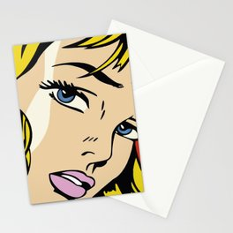 A vectorised and reworked pop art of Roy Lichtenstein Stationery Cards