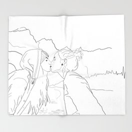 West Coast Lesbian Artwork Throw Blanket