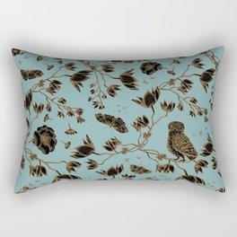 Orchid Owl Verdigris Rectangular Pillow