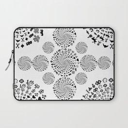 Love Symbol Mandala Black on White Laptop Sleeve