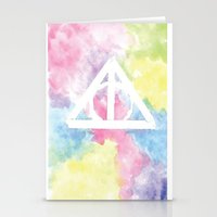 deathly hallows Stationery Cards featuring Deathly Hallows  by Mackenzie Hahn