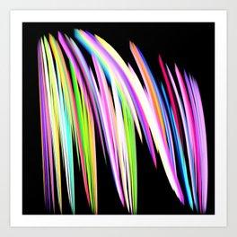 Rainbow Crayon Scribble Art Print
