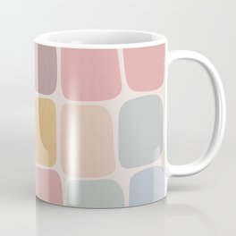 Minimal Blocks - Pastel Rainbow Coffee Mug