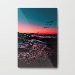 New England seacoast scene at sunset Metal Print
