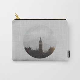 Grungy London Circle Carry-All Pouch