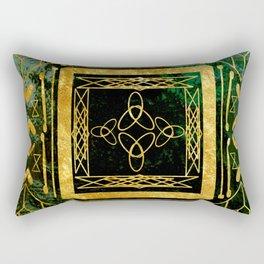 Folk Art Deco Rectangular Pillow