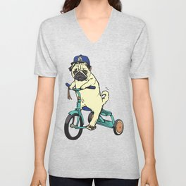 Haters Gonna Hate Pug Unisex V-Neck