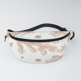 Winter Forest Pattern Fanny Pack
