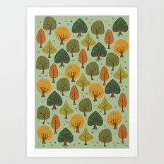 Autumn  Forest Art Print