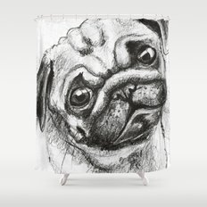 Pug Nº2 Shower Curtain