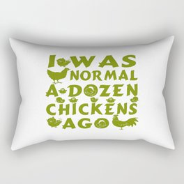 Normal A Dozen Chickens Ago Rectangular Pillow