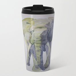 Strength - Elephant Metal Travel Mug