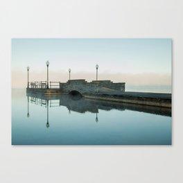 Cazenovia Lake On A Misty Morning Canvas Print