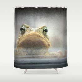Frog from Front Painting Style Shower Curtain