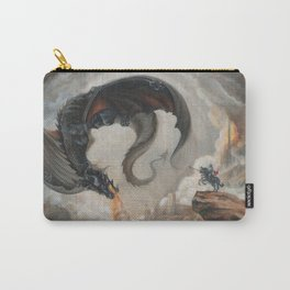 Black Battle Dragon Carry-All Pouch