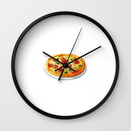All I Want is A Pizza and Nap Food Sleep T-Shirt Wall Clock