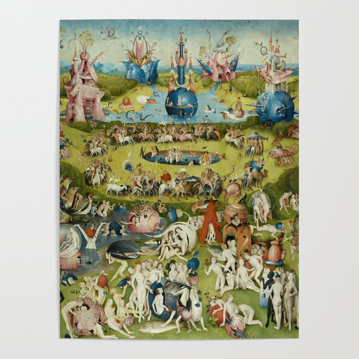 Hieronymus Bosch The Garden Of Earthly Delights Poster by artgallery