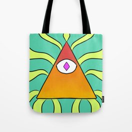 Eye of Neon Tote Bag
