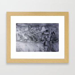 Distant Destruction  Framed Art Print