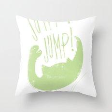 JUMP! JUMP! Throw Pillow