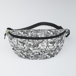 Africa Meets India Black And White Fanny Pack