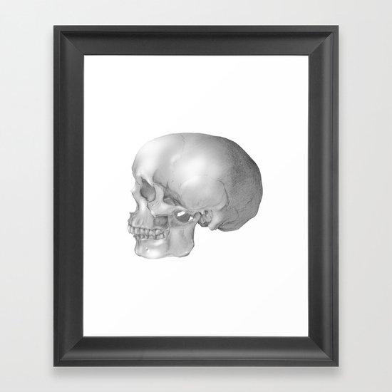 Human Skull Framed Art Print