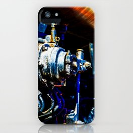 Valves And Tubes Of A Vintage Steam Engine Locomotive iPhone Case