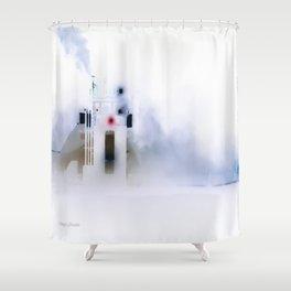 Iced Ferry 2 Shower Curtain