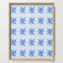 Stars 8- sky,light,rays,pointed,hope,estrella,mystical,spangled,gentle Serving Tray