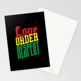 Love Order Respect Stationery Cards